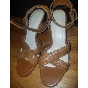 5 for $20   Worthington Strappy Leather Heels